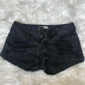Hollister black jean shorts
